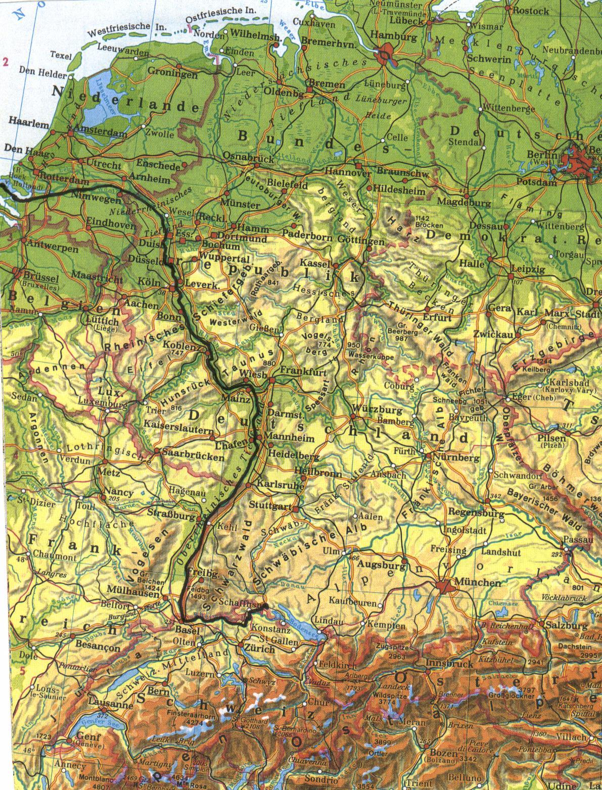 der rhein karte Rhein Karte | Forum Erdkunde